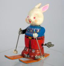 Japan Tin Rabbit on Skis