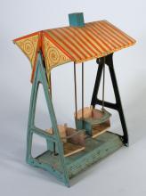 1920s German Tin Swing Set
