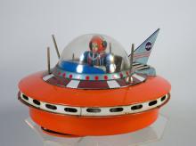 1950s KO Japan Tin Flying Saucer & Space Pilot NASA