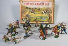 Timpo England Cowboys & Indians Set in Box