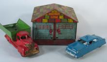 Marx Garage, Truck, and Metal Car