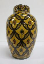 Hand painted Italian urn shaped vase