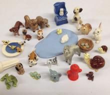 large lot miniature bisque ceramic animals (some as-is)