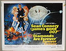 Movie Poster - Diamonds Are Forever - Sean Connery