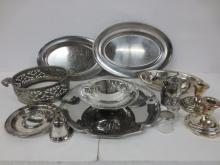 large collection silverplate