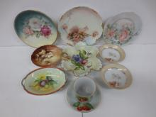 Signed Adele Walser Hand painted porcelain and other porcelain
