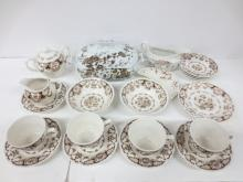 Collection of Brown Transferware, incl. English Ironstone
