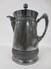 Victorian plated silver hot water server, dated 1868, Meriden, Civil War era