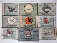 Fruit labels: Eatmor, Cape Cod Cranberries