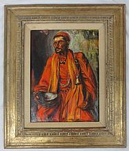 PA Rahmar - Portrait of Robed Persian Bedouin Merchant, signed and dated 1969