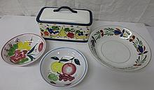 Hand painted collection incl. two Japanese Ironstone ware bowls