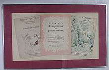 Framed popular piano sheet music