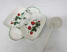 Strawberry serving basket with ladle