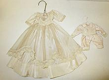 antique handmade doll dress and romper