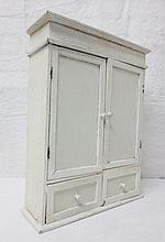 small desk top white painted cabinet