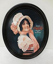 1914 image Oval Coke tray,  1972
