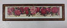 Framed under glass yard long picture of roses