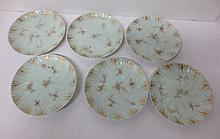 set of six (6) antique dessert or luncheon plates