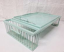 Vintage Bed Tray with lift out glass tray