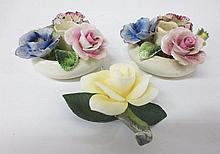 Boehm and Radnor Bone China Floral candleholders