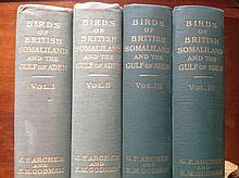 Birds of British Somaliland and the Gulf of Aden, clothbound in four volume