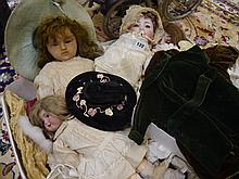A group of early 20th. Continental dolls, comprisi