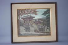 Korean Painting of Building