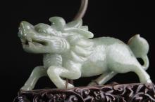 Antique Chinese Jadeite Lamp