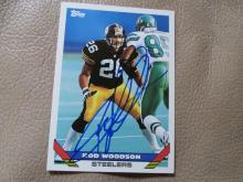 Rod Woodson Autographed/signed card