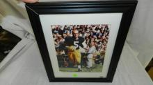 Beautifully framed autographed matted Paul Hornung