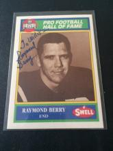 Hand signed Raymond Barry Football card