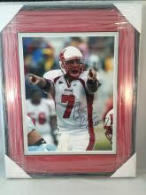 Ben Roethlisberger Autographed 8x10 Miami University Picture - Framed & Matted letter of authenticity