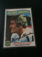 Hand signed george Blanda Football card