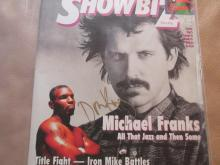 Don King autographed show biz magazine
