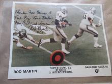 Rod Martin autographed photo