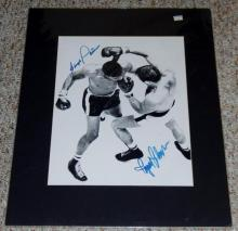 Ingemar Johansson and Floyd Patterson Autographed/signed photo Rare 17x15