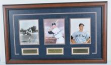 Mickey Mantle, Randy Gumpert, Jim Lonborg autographed photos matted 40x24