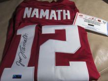 Joe Namath Alabama Autographed Jersey coa
