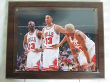 Jordon, Pippen, Rodman Wall Plaque