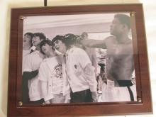 Muhammid Ali clowning with the Beatles Wall Plaque