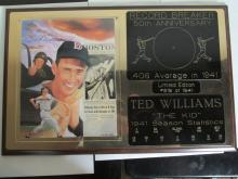 Ted williams Autographed Plaque with coa