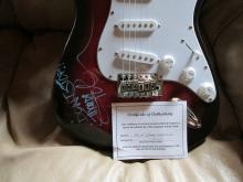 Rick Springfield Autographed Guitar with coa