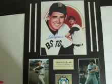 Ted Williams Autographed matted Photo with coa