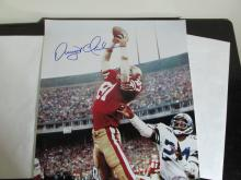 Dwight Clark Autographed Large Photo