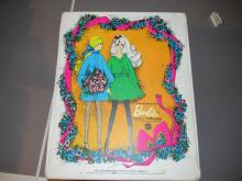 1960's  barbie doll trunk with 2 newer dolls