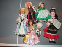 6 vintage effebee dolls from around the world
