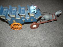 Original Cast Iron Mule drawn Wagon