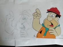 Original Fred flintstone cel drawing