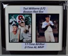 Beautifully framed autographed matted Ted williams