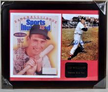Large Framed matted Ted Williams autographed photo